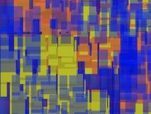 Αφηρημένη σύνθεση με το μπλε Στοκ Εικόνες