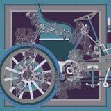 Αφηρημένη σύνθεση με το παλαιό αυτοκίνητο detailes Στοκ εικόνα με δικαίωμα ελεύθερης χρήσης