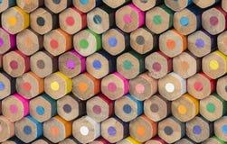 Αφηρημένη σύνθεση μολυβιών ενός των ξύλινων χρώματος συνόλου στοκ φωτογραφία με δικαίωμα ελεύθερης χρήσης