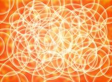 Αφηρημένη σύνθεση των άσπρων κύκλων όγκου σε ένα κίτρινο και πορτοκαλί υπόστρωμα απεικόνιση αποθεμάτων