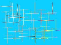 Αφηρημένη σύνθεση χρώματος στην μπλε ανασκόπηση Στοκ Φωτογραφία