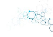 Αφηρημένη σύνδεση μορίων Στοκ Εικόνες