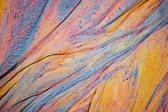 Αφηρημένη σύσταση άμμου χρώματος στο ορυχείο καολίνη στοκ φωτογραφία με δικαίωμα ελεύθερης χρήσης