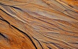 Αφηρημένη σύσταση άμμου χρώματος στο ορυχείο καολίνη στοκ εικόνα