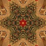 Αφηρημένη σύσταση καλειδοσκόπιων Mandala χριστουγεννιάτικων δέντρων στοκ φωτογραφίες