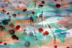 Αφηρημένη σύσταση κρητιδογραφιών watercolor χρωμάτων κέρινη Στοκ εικόνες με δικαίωμα ελεύθερης χρήσης