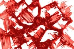 αφηρημένη σύσταση Κόκκινα κτυπήματα μελανιού Στοκ Φωτογραφίες