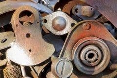 αφηρημένη σύσταση μετάλλων Από τα παλαιά μέρη μετάλλων των μηχανών Στοκ Εικόνες