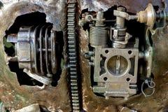 αφηρημένη σύσταση μετάλλων Από τα παλαιά μέρη μετάλλων των μηχανών Στοκ Φωτογραφία