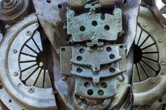 αφηρημένη σύσταση μετάλλων Από τα παλαιά μέρη μετάλλων των μηχανών Στοκ Εικόνα