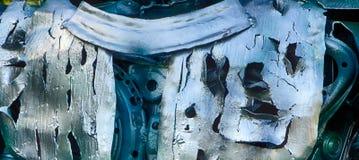 αφηρημένη σύσταση μετάλλων Από τα παλαιά μέρη μετάλλων των μηχανών Στοκ φωτογραφία με δικαίωμα ελεύθερης χρήσης