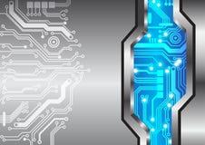 Αφηρημένη σύσταση μετάλλων κυκλωμάτων υποβάθρου τεχνολογίας Στοκ Εικόνες