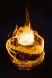 αφηρημένη σύσταση πυρκαγιάς Φλόγα κινήσεων ποτό ζεστό Στοκ εικόνα με δικαίωμα ελεύθερης χρήσης