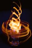 αφηρημένη σύσταση πυρκαγιάς Φλόγα κινήσεων ποτό ζεστό Στοκ Εικόνες