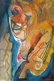 Αφηρημένη τέχνη ζωγραφικής κρητιδογραφιών ελεύθερη απεικόνιση δικαιώματος