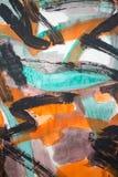 Αφηρημένη τέχνη ζωγραφικής: Κτυπήματα με τα διαφορετικά σχέδια χρώματος lik Στοκ εικόνες με δικαίωμα ελεύθερης χρήσης