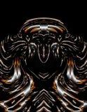 Αφηρημένη τέχνη: Ηλεκτρική συγκομιδή πριγκηπισσών πολεμιστών τιγρών νέου των ματιών στοκ εικόνα με δικαίωμα ελεύθερης χρήσης