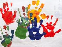 Αφηρημένη τέχνη παιδιών Στοκ Εικόνες