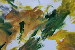Αφηρημένη τέχνη πράσινος και κίτρινος Στοκ Εικόνα