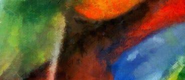 Αφηρημένη τέχνη σύστασης μιγμάτων χρώματος εντύπωσης Καλλιτεχνικό φωτεινό backg ελεύθερη απεικόνιση δικαιώματος