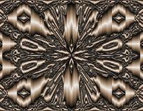 Αφηρημένη τέχνη: τρισδιάστατη πόρπη πεταλούδων χαλκού - έκδοση: Όλος ο χαλκός διανυσματική απεικόνιση