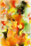 Αφηρημένη τέχνη watercolor background hand painted Στοκ φωτογραφία με δικαίωμα ελεύθερης χρήσης