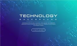 Αφηρημένη τεχνολογίας έννοια υποβάθρου εμβλημάτων γαλαζοπράσινη με την τεχνολογία αποτελεσμάτων γραμμών, μπλε σύσταση υποβάθρου,  ελεύθερη απεικόνιση δικαιώματος