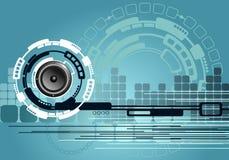 αφηρημένη τεχνολογία μουσικής ανασκόπησης απεικόνιση αποθεμάτων