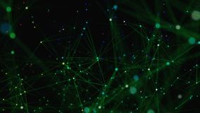 Αφηρημένη τεχνολογία φαντασίας πλεγμάτων Αφηρημένο γεωμετρικό υπόβαθρο με την κίνηση των γραμμών, των σημείων και των τριγώνων επ διανυσματική απεικόνιση