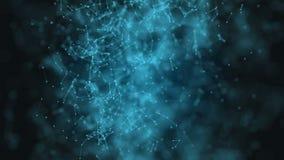 Αφηρημένη τεχνολογία φαντασίας πλεγμάτων Αφηρημένο γεωμετρικό υπόβαθρο με την κίνηση των γραμμών, των σημείων και των τριγώνων φιλμ μικρού μήκους