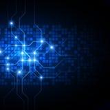 αφηρημένη τεχνολογία ανα&sigm επίσης corel σύρετε το διάνυσμα απεικόνισης Στοκ Εικόνα