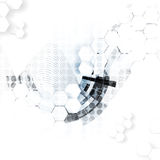 αφηρημένη τεχνολογία ανα&sigm Φουτουριστική διεπαφή τεχνολογίας Στοκ φωτογραφία με δικαίωμα ελεύθερης χρήσης