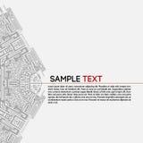 αφηρημένη τεχνολογία ανα&sigm Στοκ Εικόνα