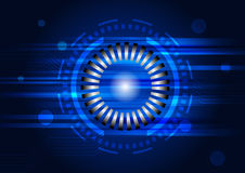Αφηρημένη τεχνολογία κύκλων με το διάνυσμα γραμμών κυκλωμάτων Στοκ εικόνα με δικαίωμα ελεύθερης χρήσης