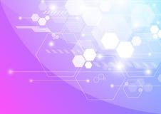 Αφηρημένη τεχνολογία υποβάθρου στη διανυσματική απεικόνιση Στοκ Εικόνα