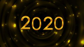 Αφηρημένη τηλεοπτική ζωτικότητα έτους πυράκτωσης χρυσή 2020 νέα απεικόνιση αποθεμάτων