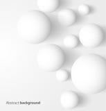 Αφηρημένη τρισδιάστατη άσπρη σφαιρική ανασκόπηση Στοκ εικόνες με δικαίωμα ελεύθερης χρήσης
