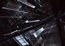 Αφηρημένη τρισδιάστατη απεικόνιση τεχνολογίας Στοκ εικόνες με δικαίωμα ελεύθερης χρήσης