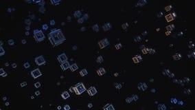 Αφηρημένη τρισδιάστατη απόδοση του ψηφίσματος κύβων 8K πετάγματος απεικόνιση αποθεμάτων