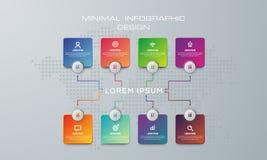 Αφηρημένη τρισδιάστατη ψηφιακή απεικόνιση Infographic χρησιμοποιημένος για το σχεδιάγραμμα ροής της δουλειάς, διάγραμμα, επιλογές διανυσματική απεικόνιση