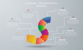Αφηρημένη τρισδιάστατη ψηφιακή απεικόνιση Infographic διανυσματική απεικόνιση