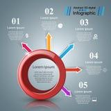Αφηρημένη τρισδιάστατη ψηφιακή απεικόνιση Infographic ελεύθερη απεικόνιση δικαιώματος
