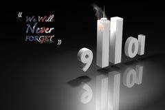 Αφηρημένη τρισδιάστατη δίνοντας απεικόνιση: Κτήρια δίδυμων πύργων του World Trade Center για την 11η Σεπτεμβρίου 2001, ημέρα πατρ διανυσματική απεικόνιση