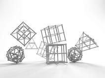Αφηρημένη τρισδιάστατη απόδοση γεωμετρίας Στοκ Εικόνες