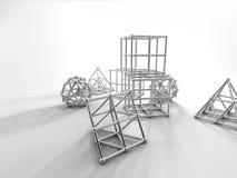 Αφηρημένη τρισδιάστατη απόδοση γεωμετρίας Στοκ εικόνες με δικαίωμα ελεύθερης χρήσης