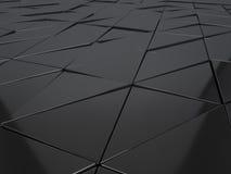 Αφηρημένη τρισδιάστατη απόδοση των μεταλλικών γεωμετρικών επιτροπών Στοκ Εικόνα