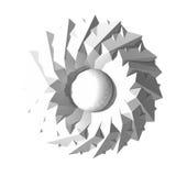 Αφηρημένη τρισδιάστατη ιερή γεωμετρία Στοκ φωτογραφία με δικαίωμα ελεύθερης χρήσης