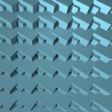 Αφηρημένη τρισδιάστατη μπλε γεωμετρία φραγμών Στοκ Φωτογραφία