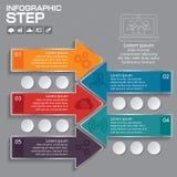Αφηρημένη τρισδιάστατη ψηφιακή απεικόνιση Infographic με το βέλος Στοκ Εικόνα
