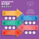 Αφηρημένη τρισδιάστατη ψηφιακή απεικόνιση Infographic με το βέλος Στοκ φωτογραφίες με δικαίωμα ελεύθερης χρήσης